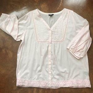 Intro Boho Style Tunic w 3/4 sleeves size 2X